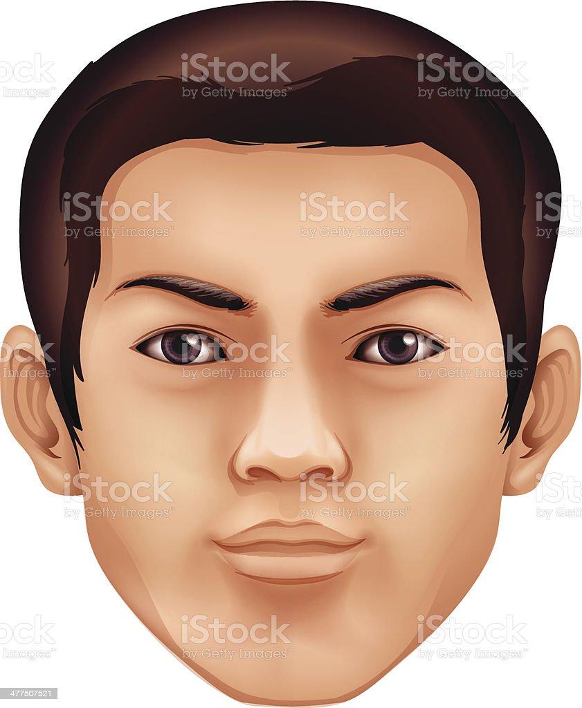 Human face vector art illustration