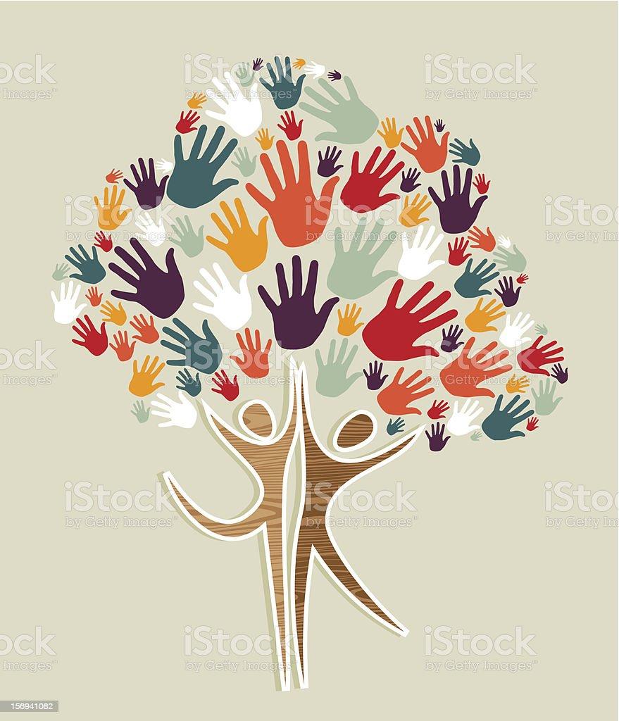 Human Family concept tree royalty-free stock vector art