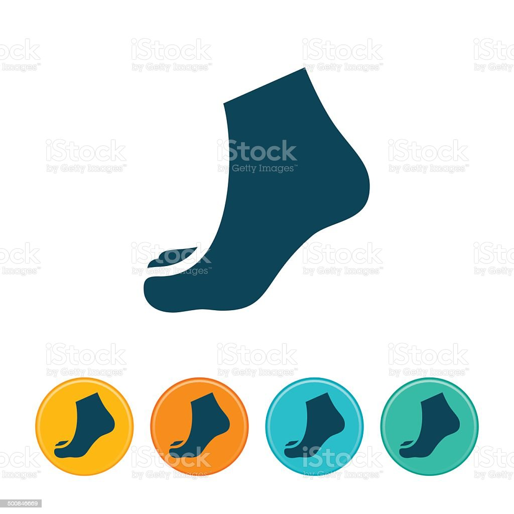 Human Foot Icon vector art illustration