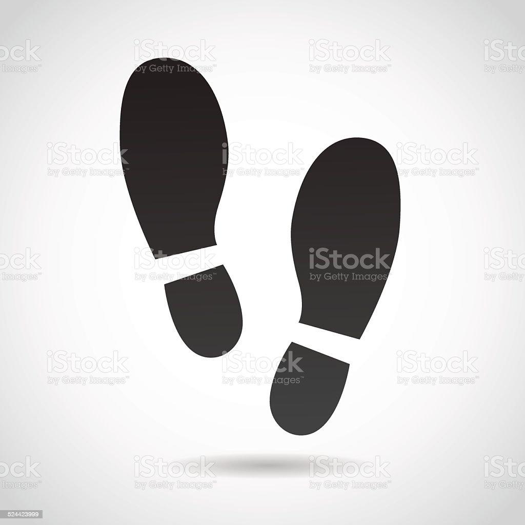 Human foot print icon. vector art illustration
