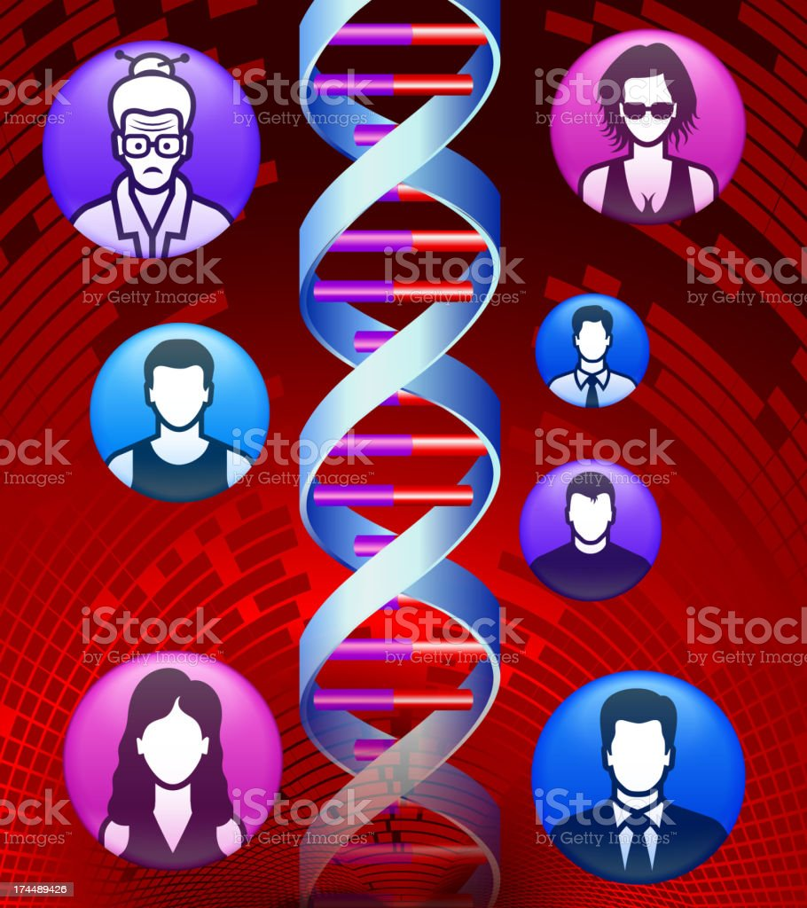 Human Genome and Social Network Evolution Abstract Background royalty-free stock vector art