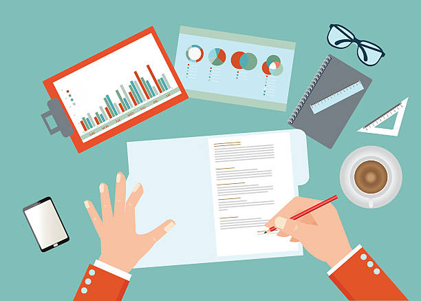 resume writing clip art vector images illustrations istock