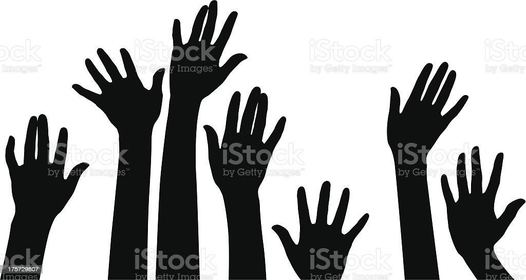 Human Hand royalty-free stock vector art