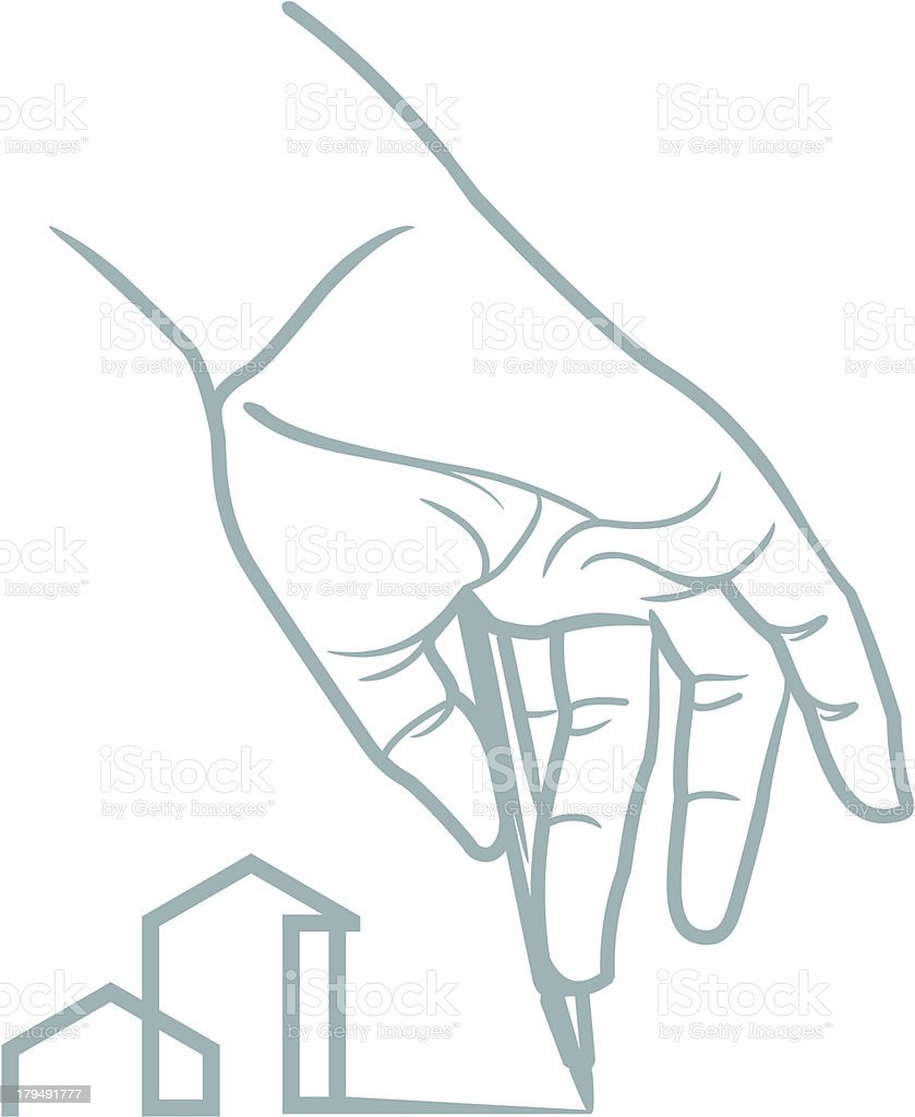 Human hand_02 royalty-free stock vector art