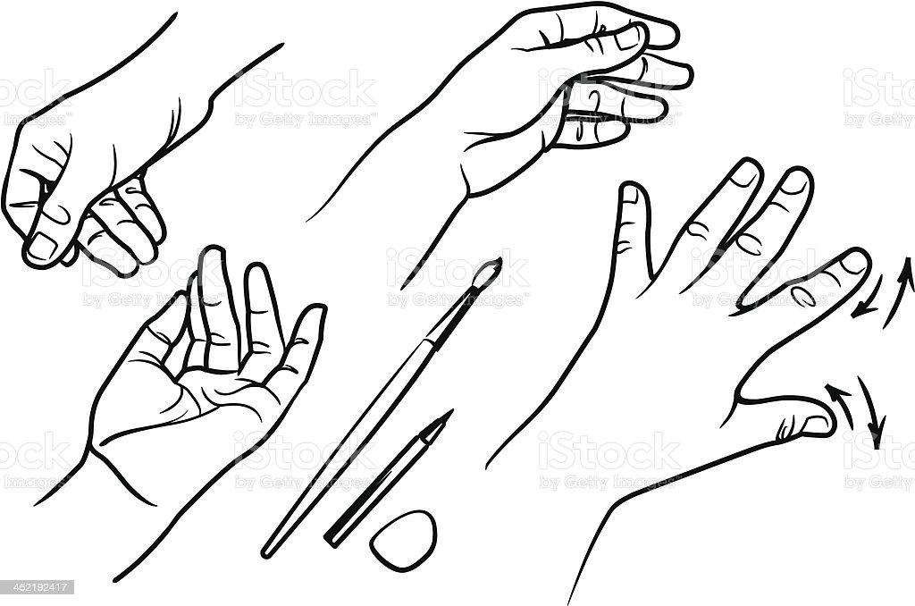 Human hand_05 royalty-free stock vector art