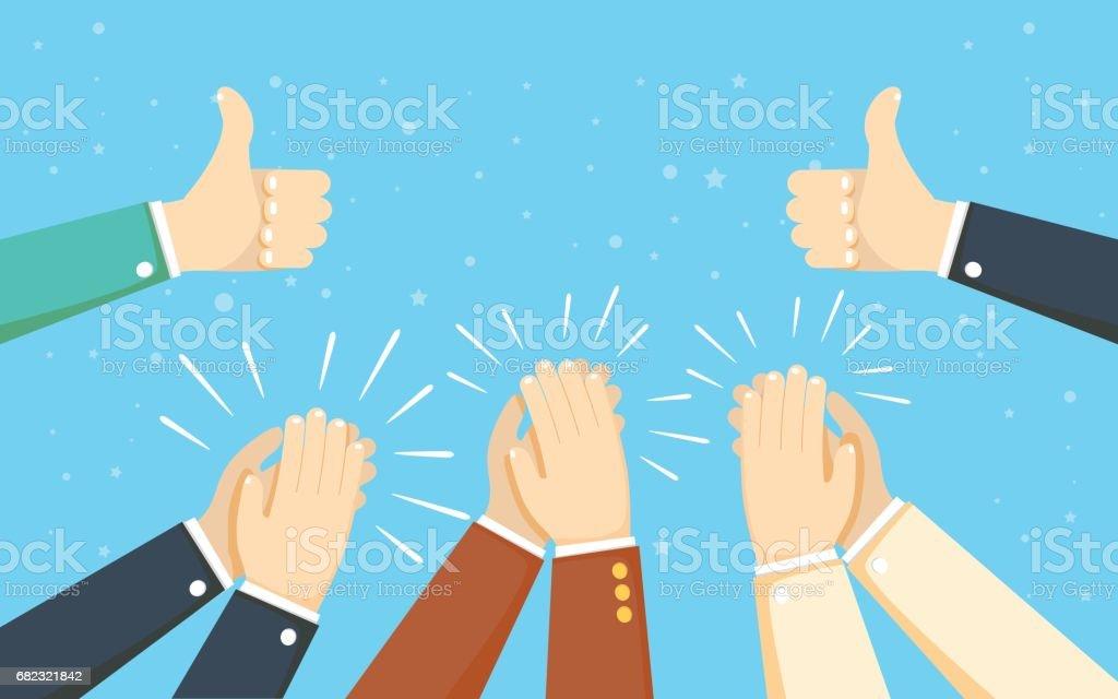 Human hands clapping. applaud hands. vector illustration vector art illustration