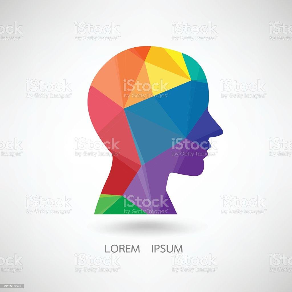 Human head abstract vector illustration vector art illustration