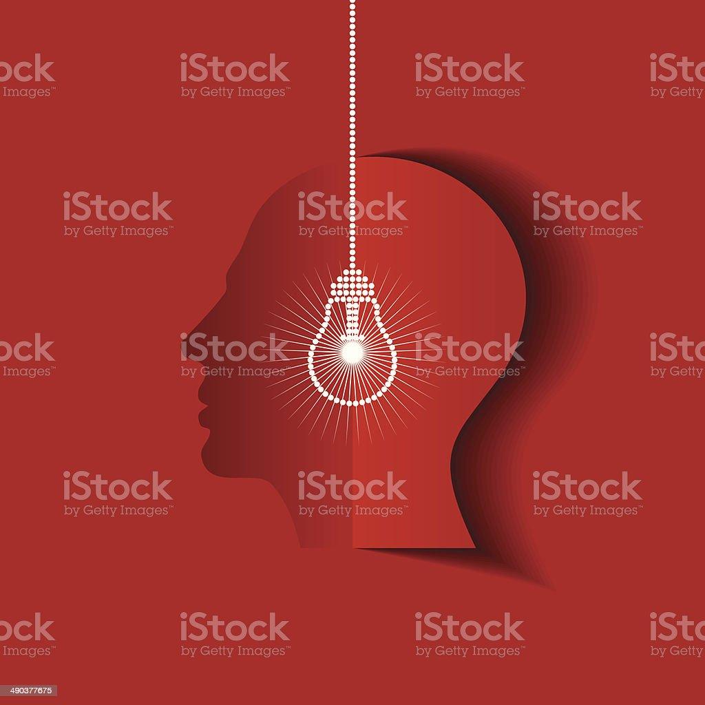 human head thinking a new idea royalty-free stock vector art