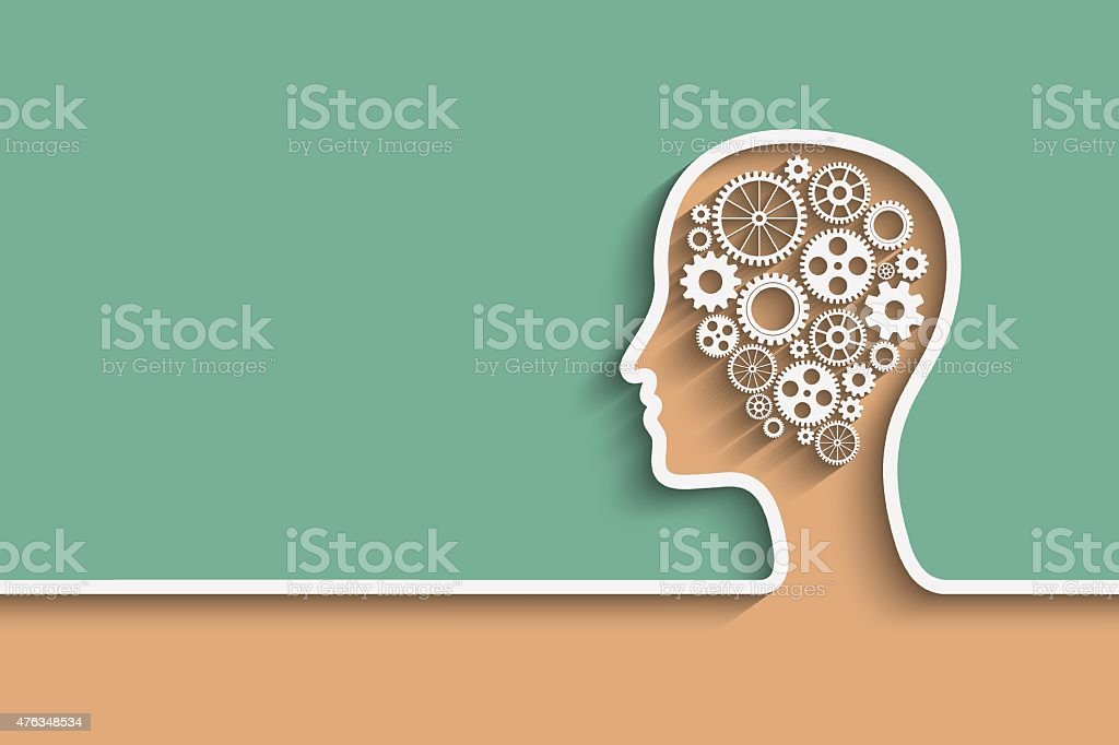 Human head vector art illustration