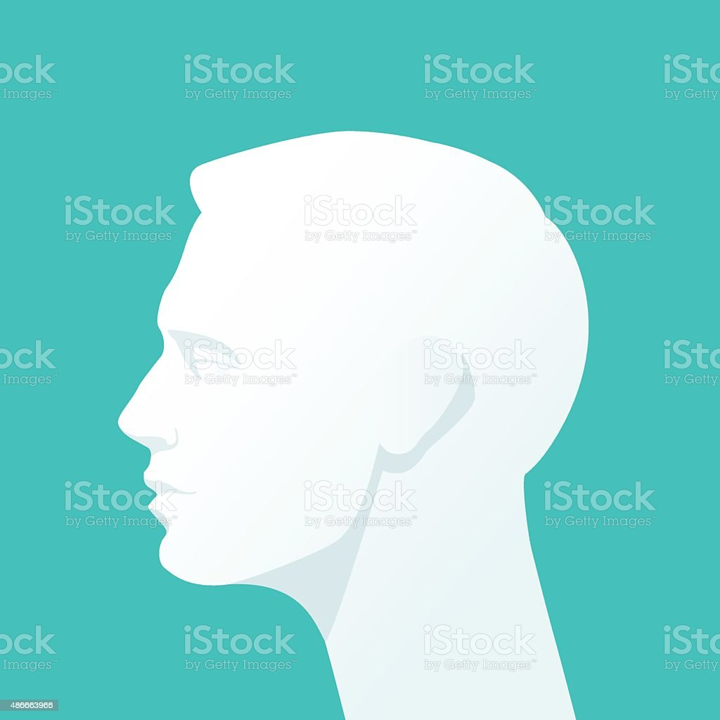 Human head. vector art illustration