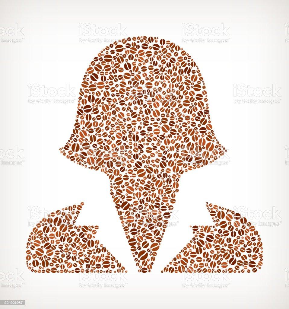 Human Headshot royalty free Coffee Bean Pattern royalty-free stock vector art