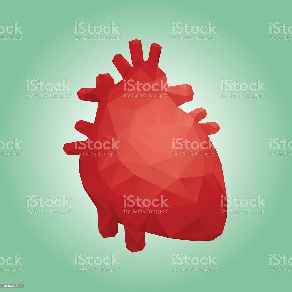 Human heart polygon design vector art illustration