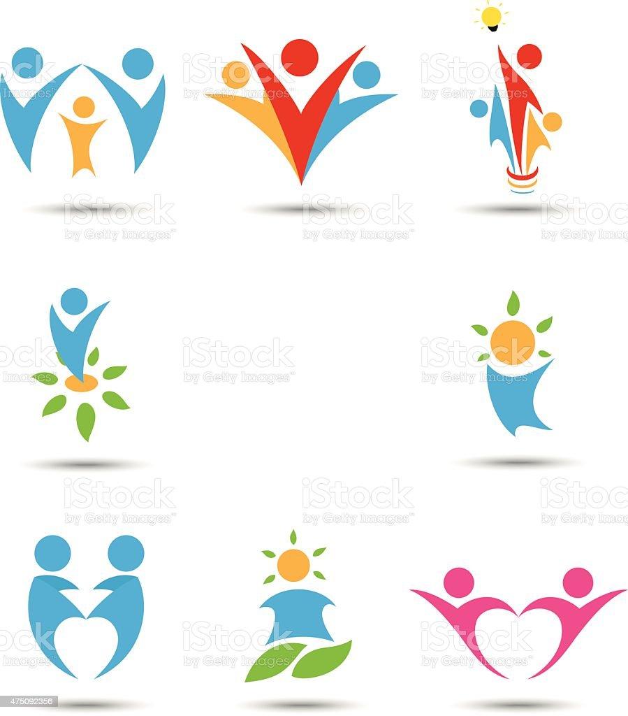 Human icons vector art illustration