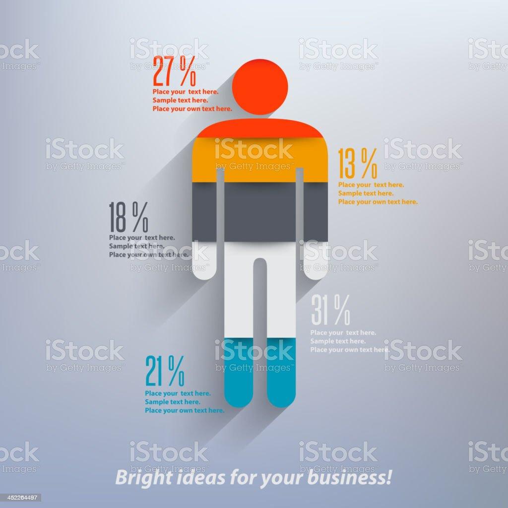 Human infographics vector art illustration