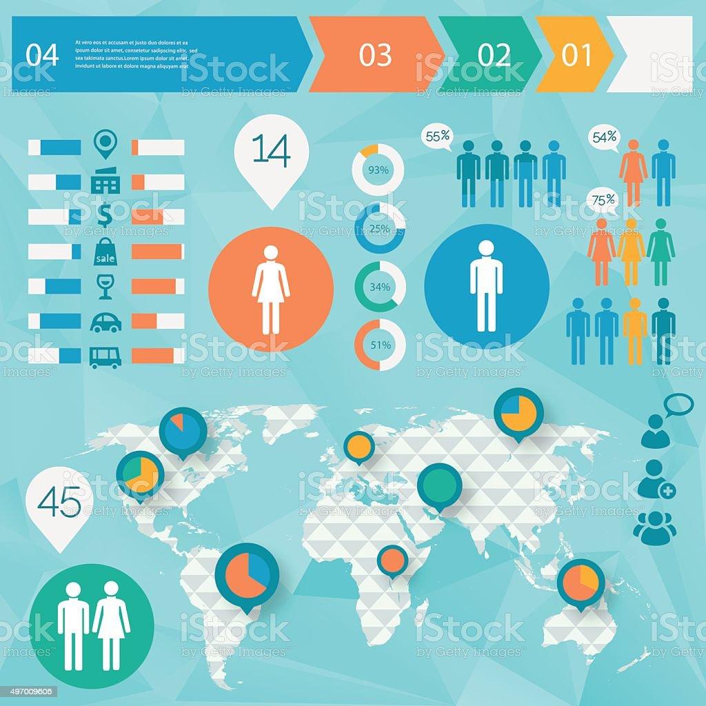 Human issues infographics vector art illustration