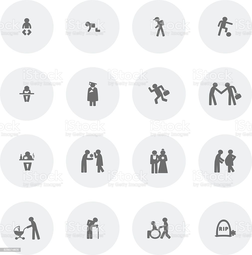Human Life Icon vector art illustration