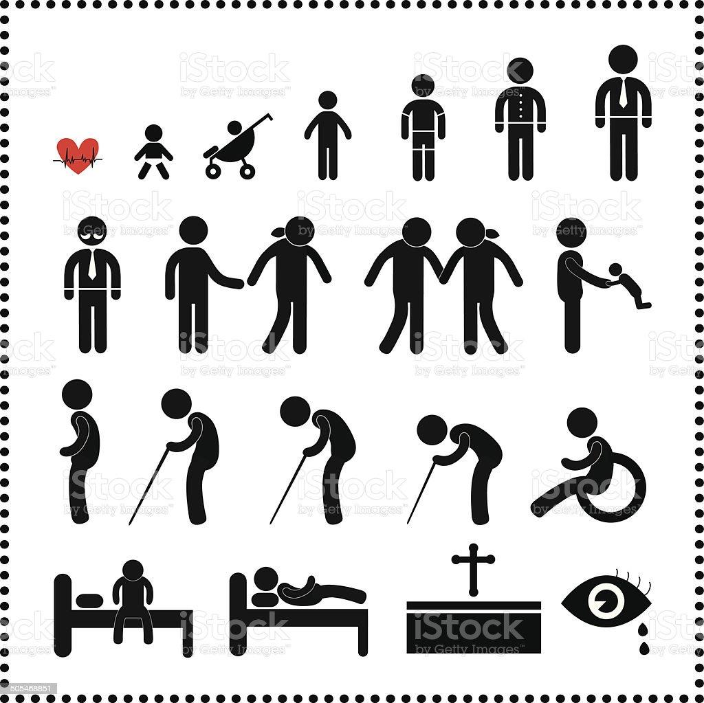 human life symbol vector art illustration