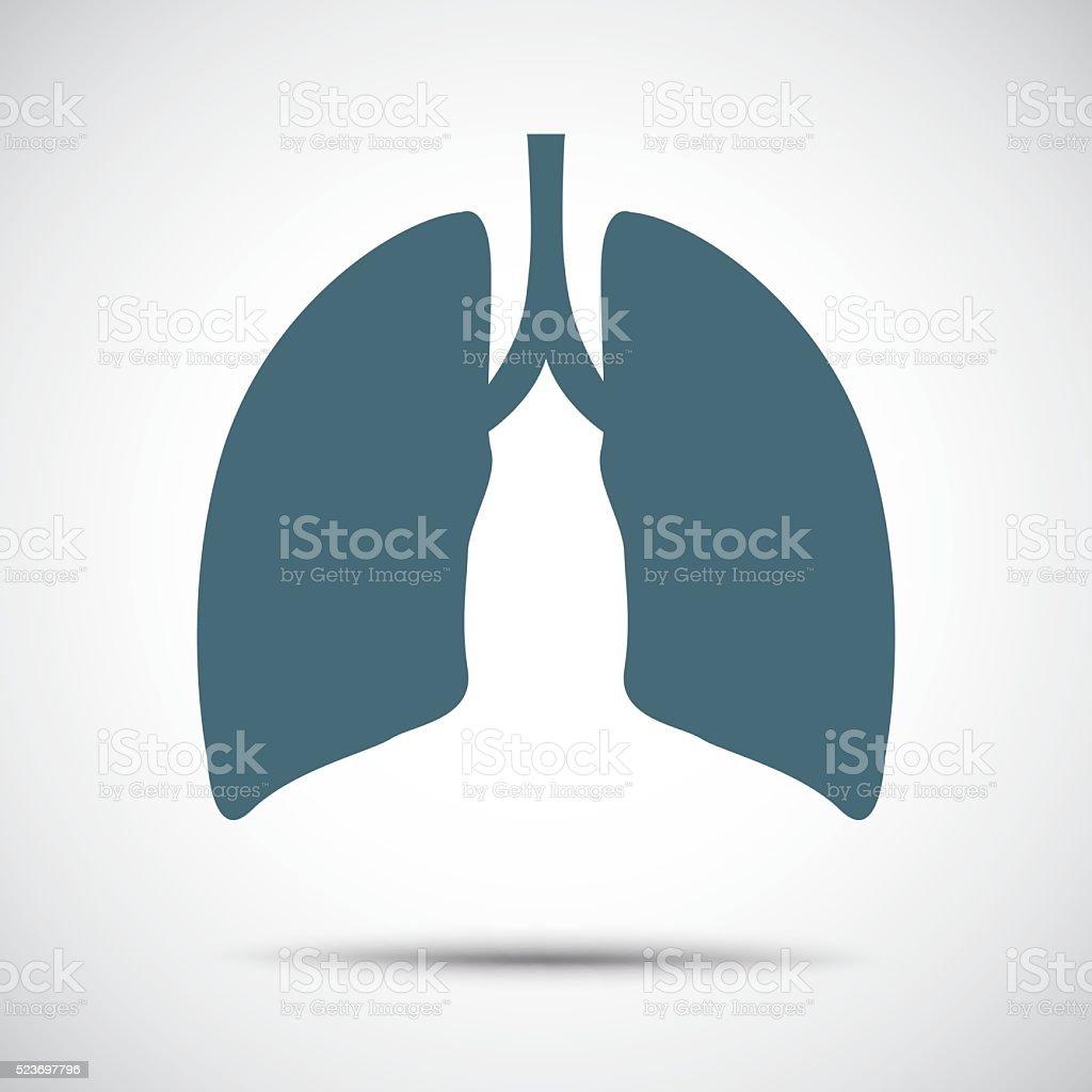 Menschliche Lunge Symbol Vektor Illustration 523697796   iStock