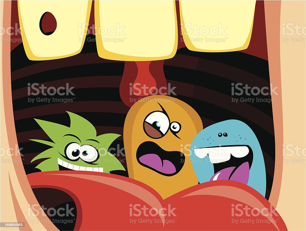 Human Mouth Bacterias royalty-free stock vector art
