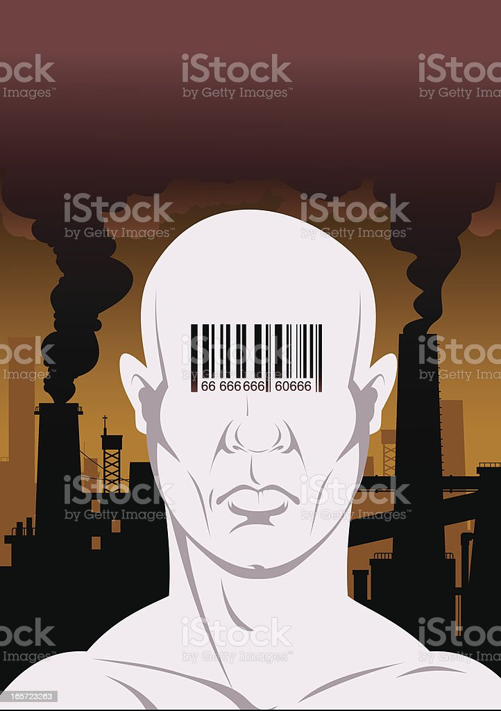 Human of the future royalty-free stock vector art