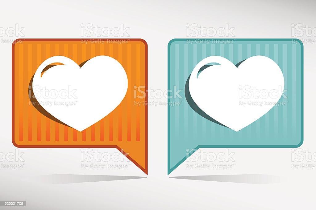 Human organ. Heart - orange and blue pointer vector art illustration