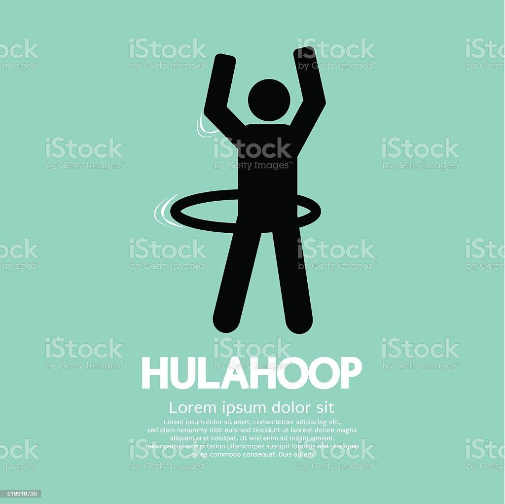 Human Playing A Hulahoop Symbol Vector Illustration vector art illustration