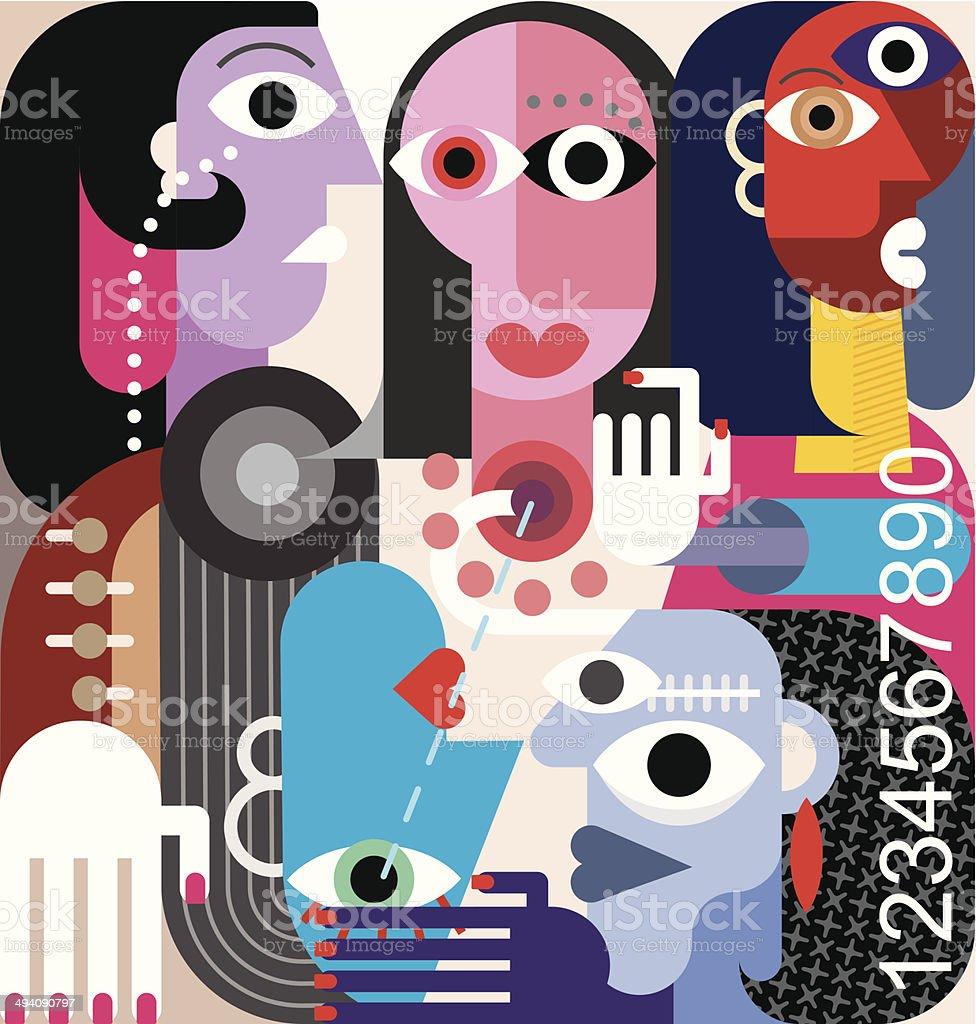 Human Relations vector art illustration