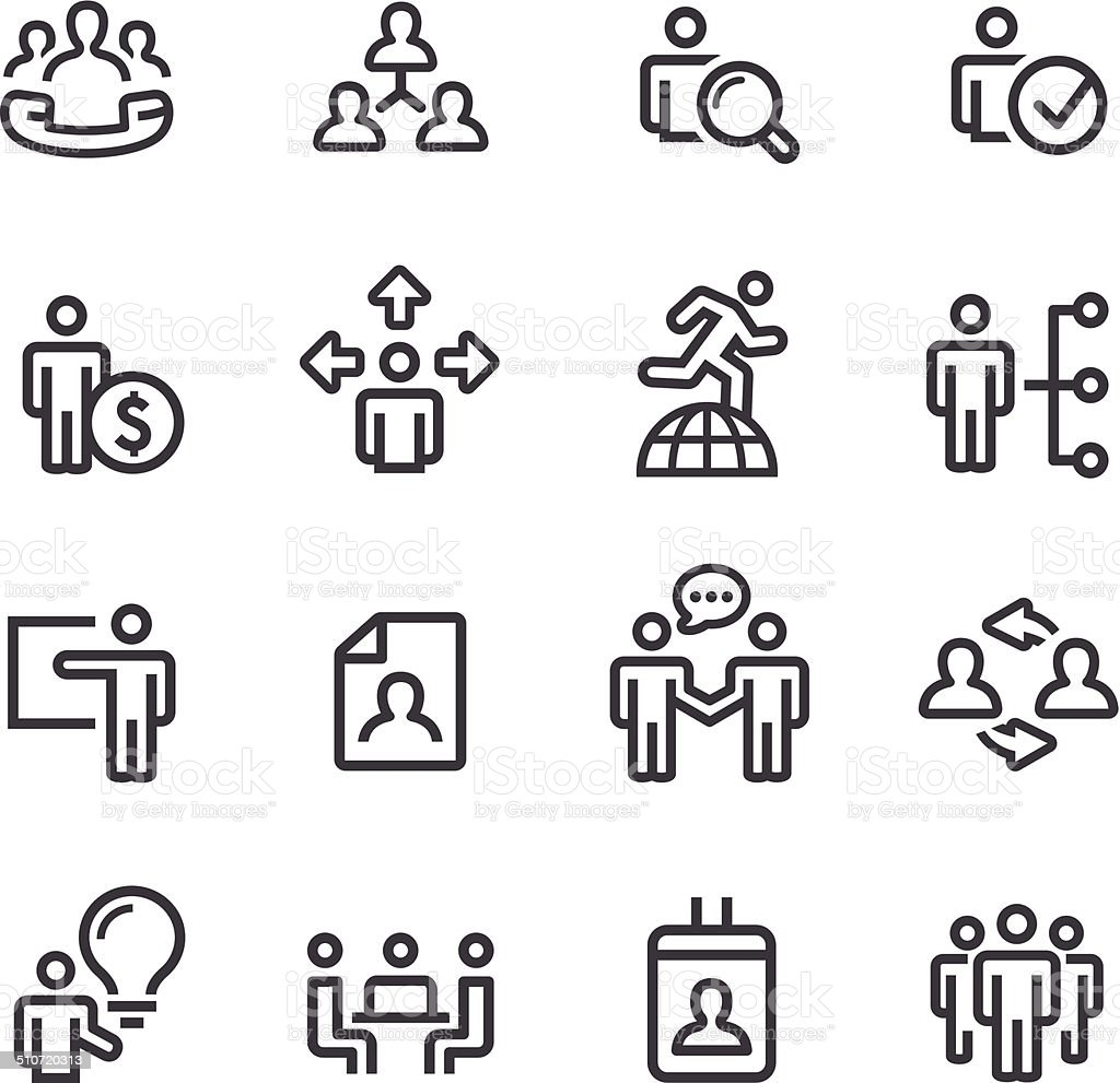 Human Resource and Business Icons - Line Series vector art illustration