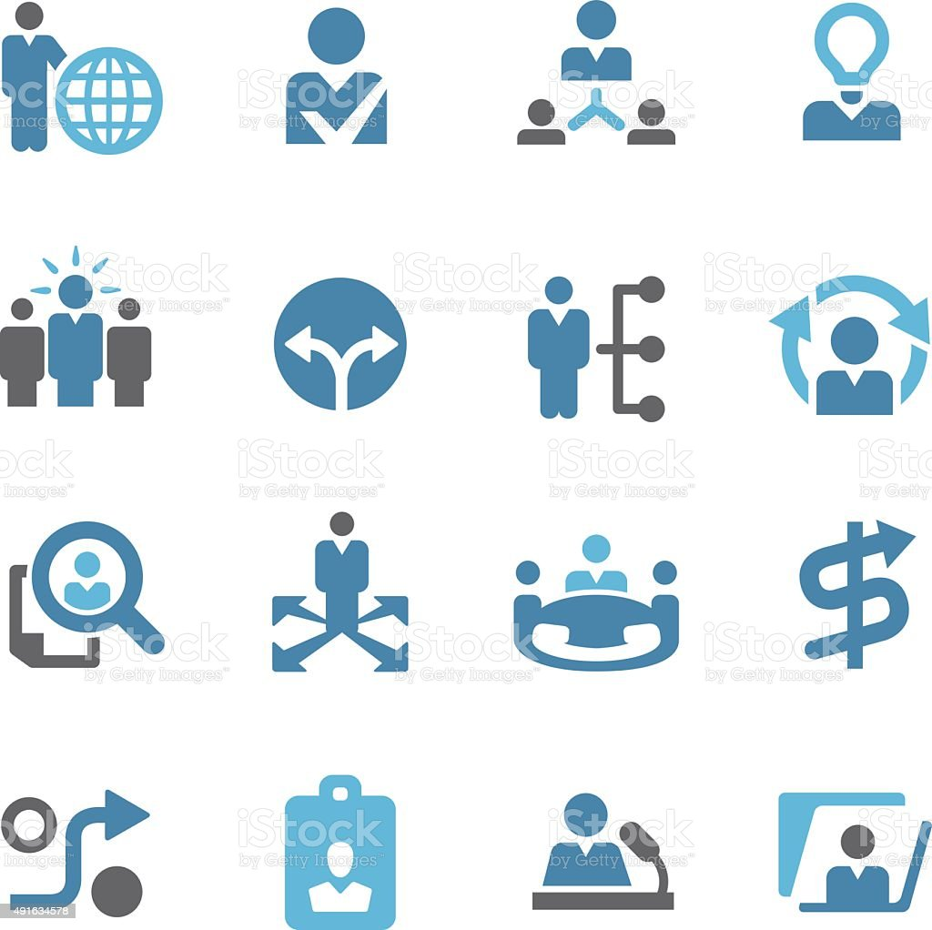 Human Resource and Business Strategy Icons - Conc Series vector art illustration