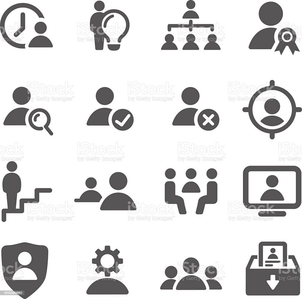 Human resource, Business and Management Icons - Acme Series vector art illustration
