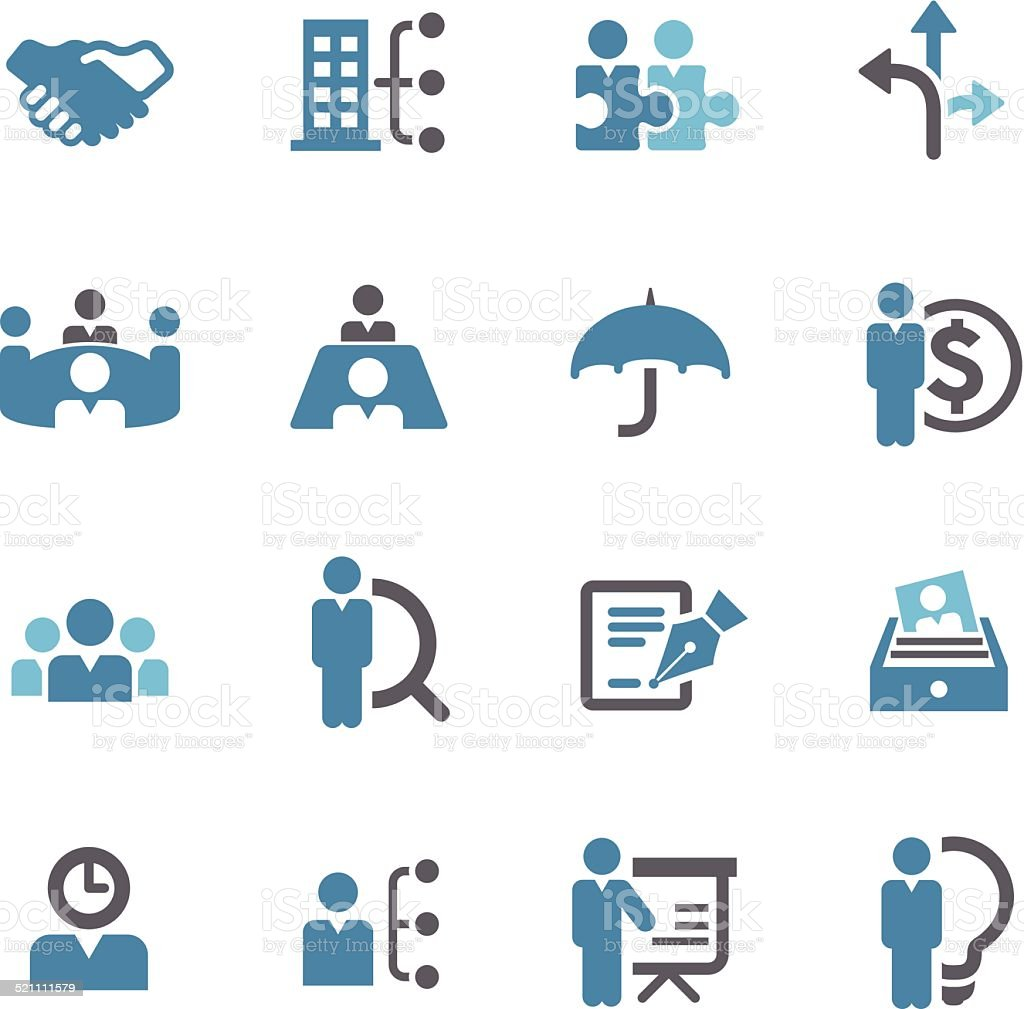 human resource, Business and Management Icons - Conc Series vector art illustration