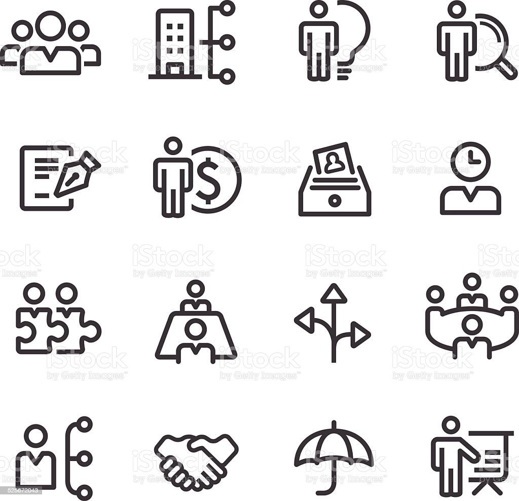 human resource, Business and Management Icons - Line Series vector art illustration