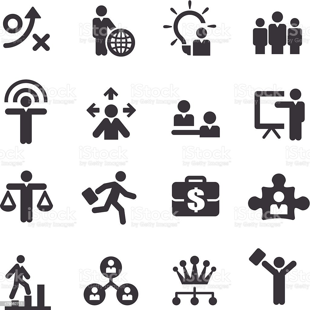 Human Resource, Business and Strategy Icons - Acme Series vector art illustration