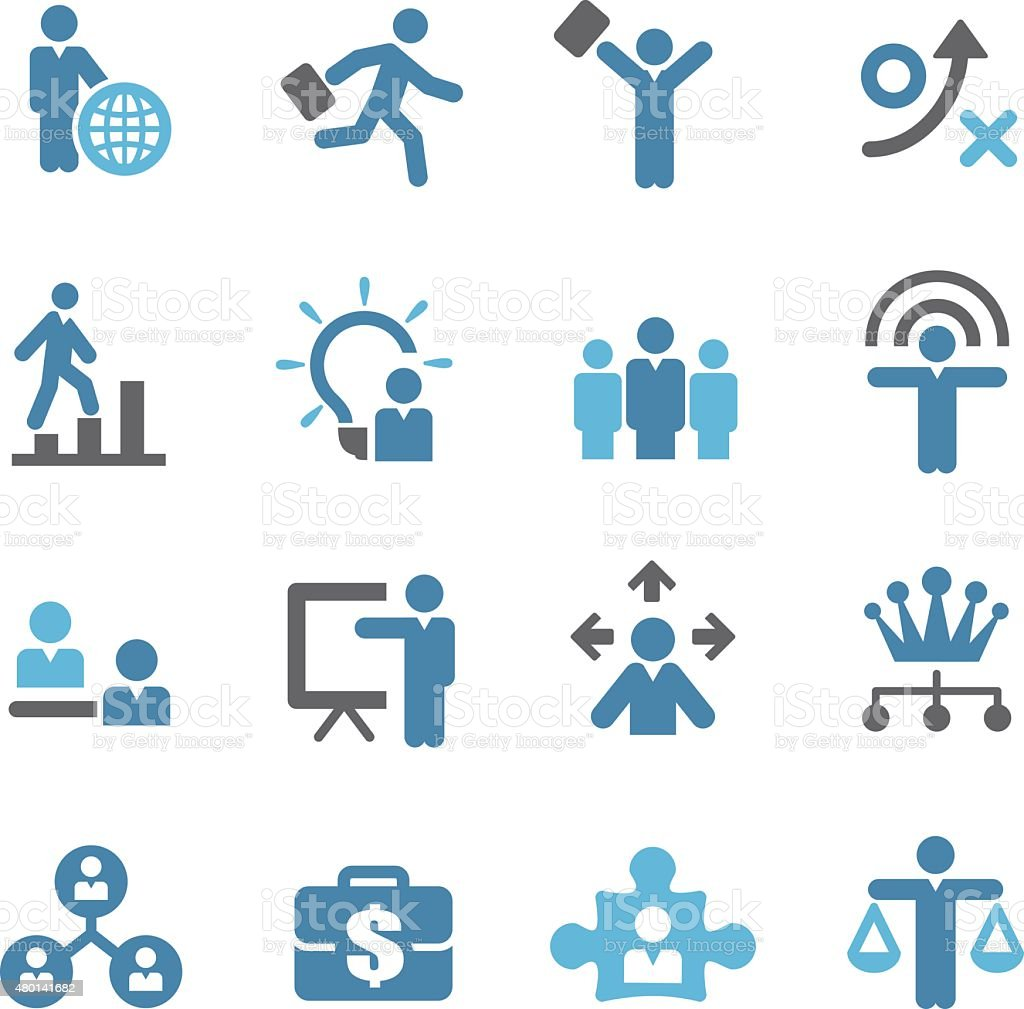 Human Resource, Business and Strategy Icons - Conc Series vector art illustration