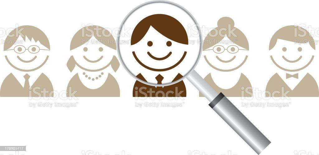 Human resource concept royalty-free stock vector art