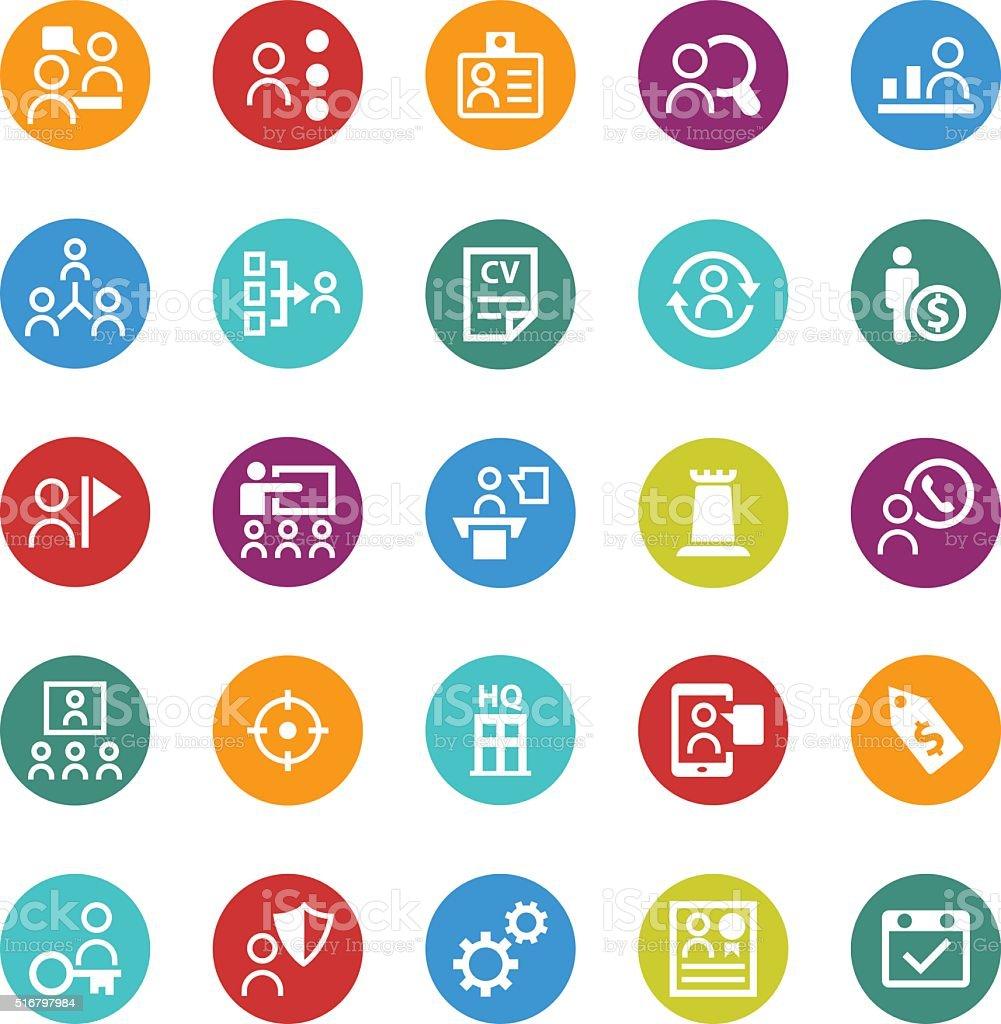 Human resource icon set vector art illustration