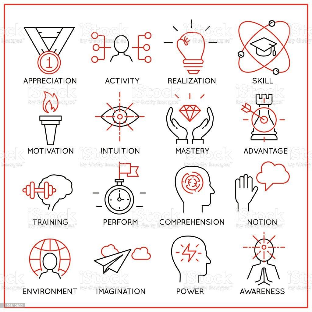 Human resource management icons - part 2 vector art illustration