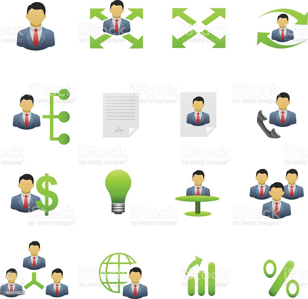 Human resource management icons royalty-free stock vector art