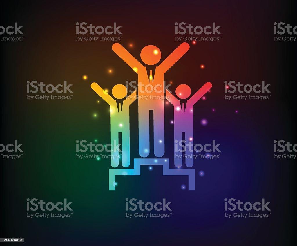 Human resource symbol,Rainbow vector royalty-free stock vector art