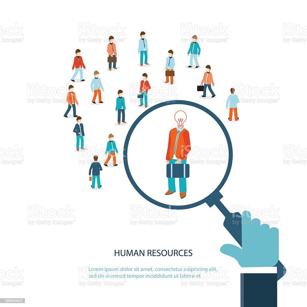 Human resource. vector art illustration