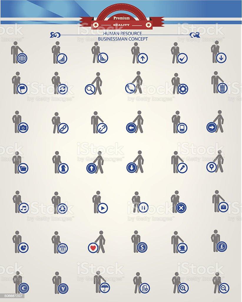Human resource,Businessma n icons vector art illustration