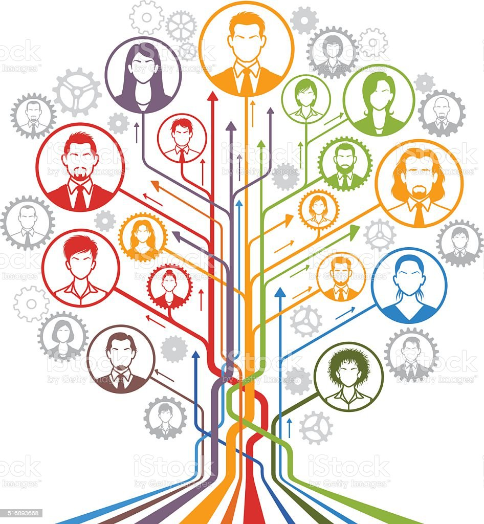 Human Resources Abstract Tree vector art illustration