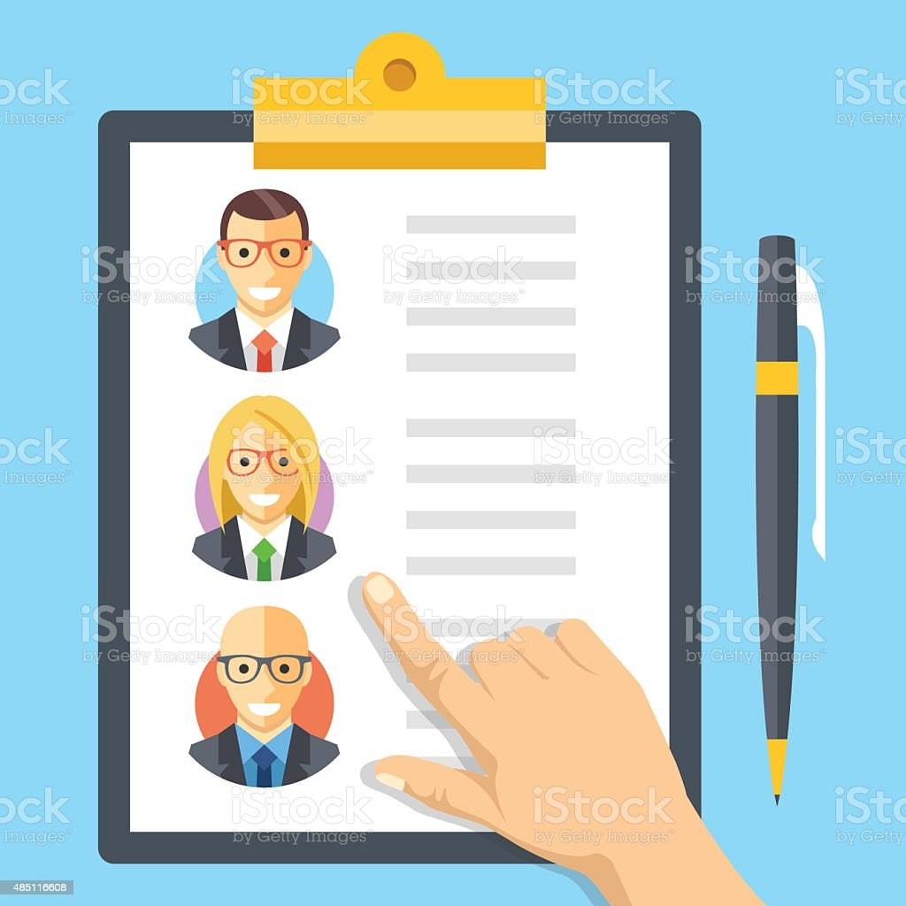 Human resources, employment, team management flat illustration concepts vector art illustration