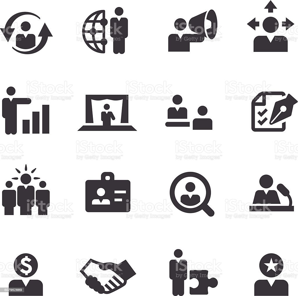 Human Resources Icons - Acme Series vector art illustration