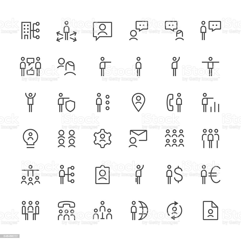 Human resources icons set 3 | Thin Line series vector art illustration