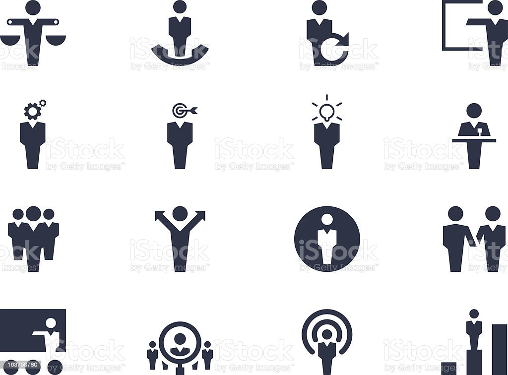 Human resources icons royalty-free stock vector art