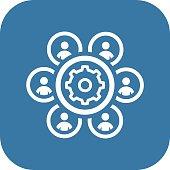 Human Resources Management Icon. Business Concept.
