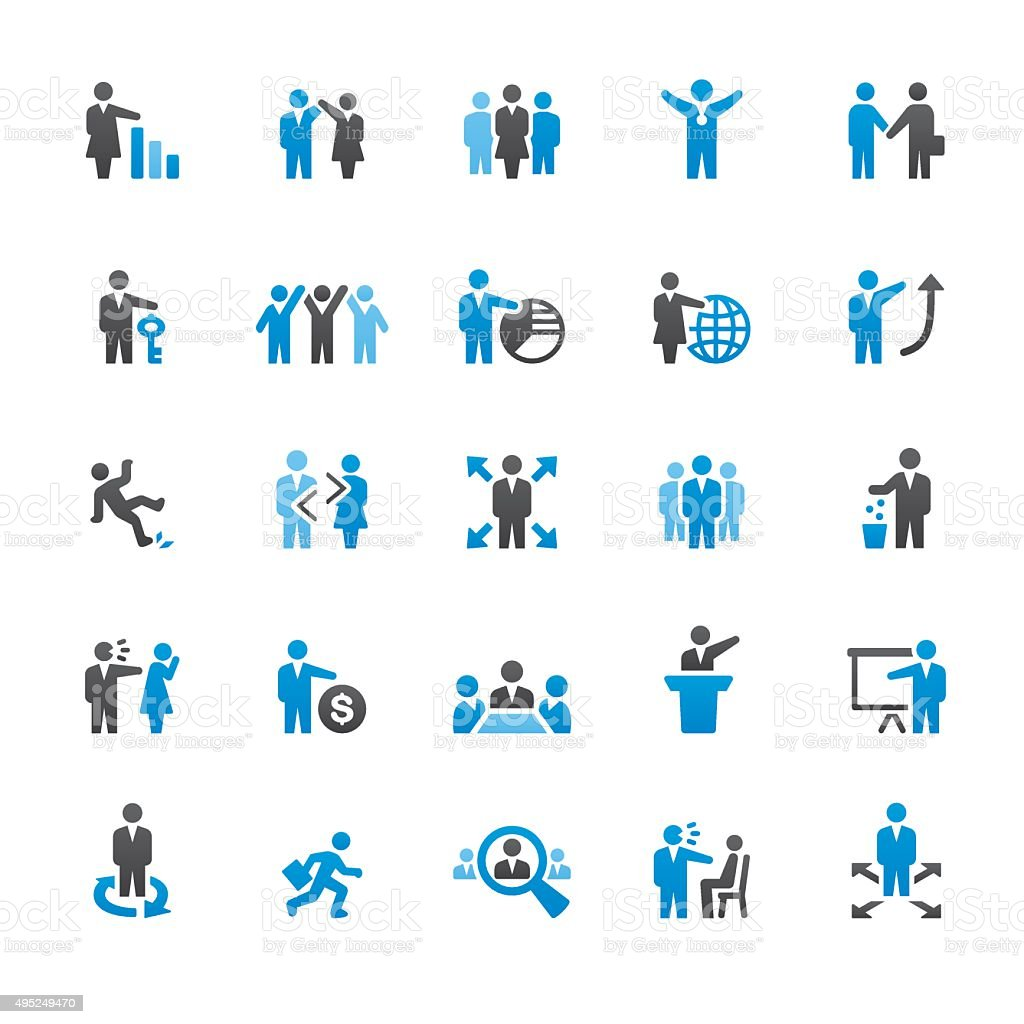 Human Resources related vector icons vector art illustration