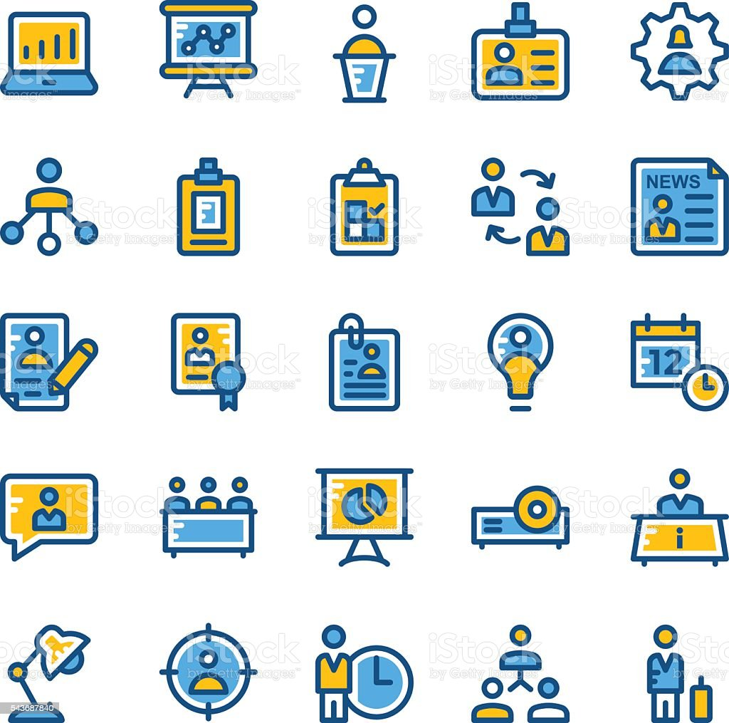 Human Resources Vector Icons 2 vector art illustration