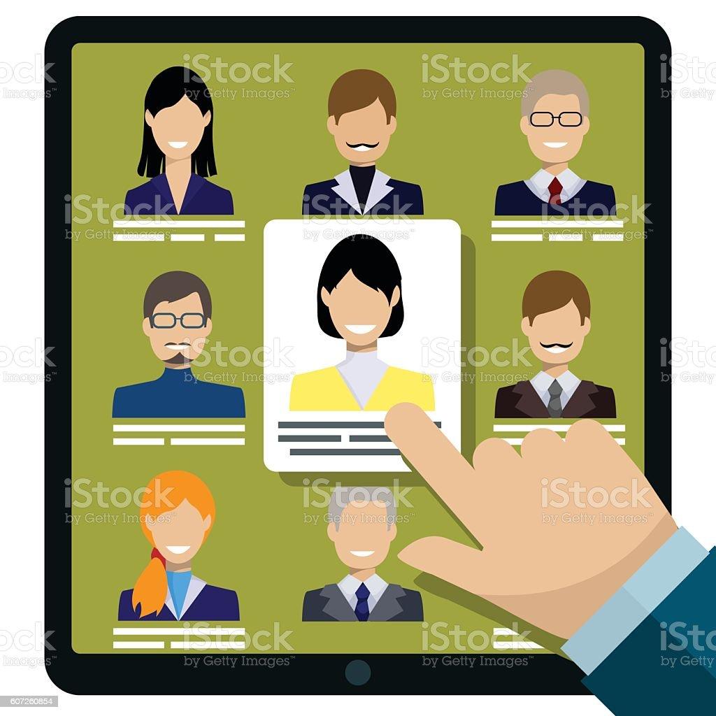 Human resources vector illustration vector art illustration